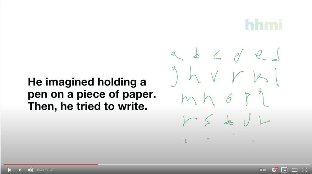 脳内で文字を手書きするイメージ